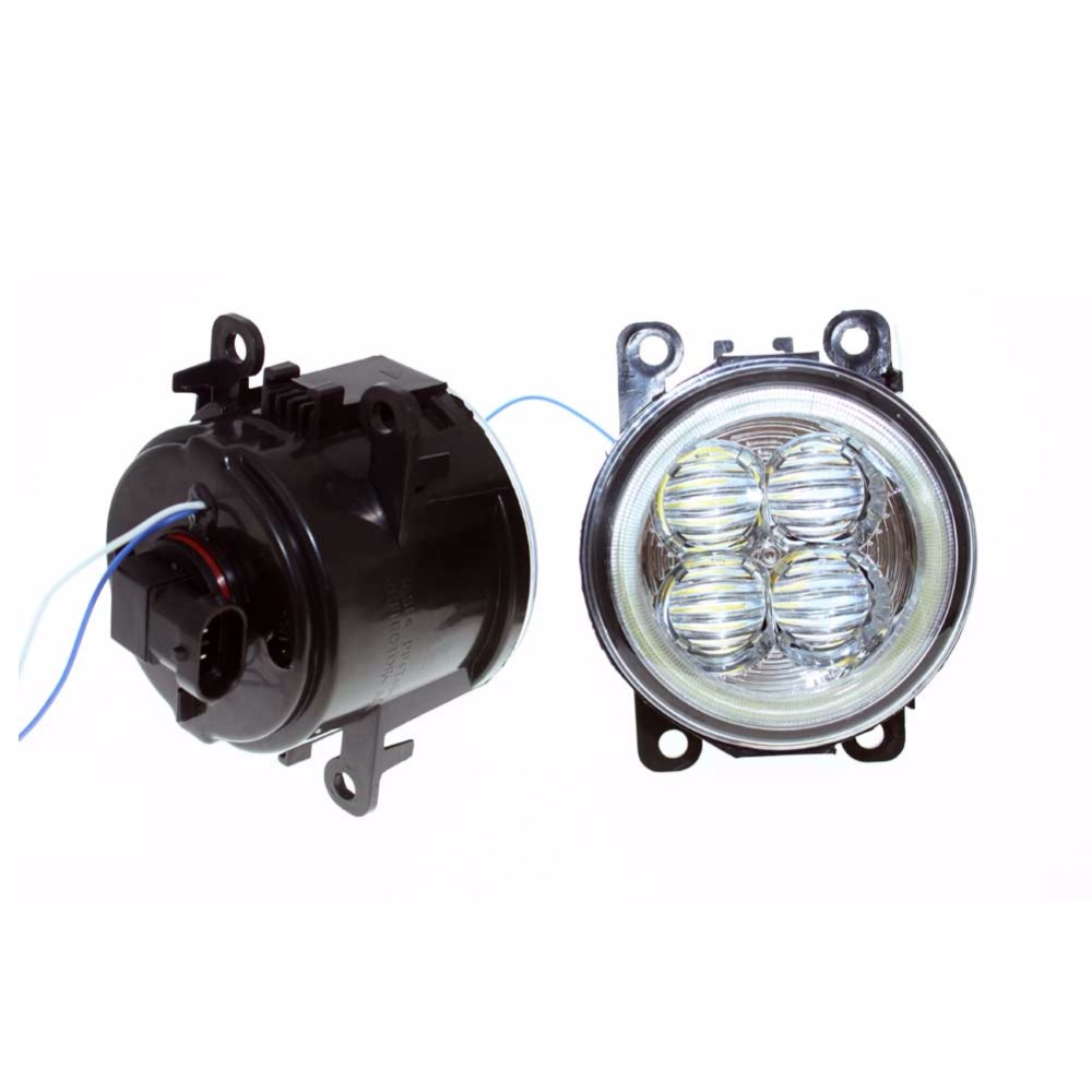 For MITSUBISHI L200 KB_T KA_T Pickup 05-15 Car Styling Bumper Angel Eyes LED Fog Lamps DRL Daytime Running Fog Lights OCB Lens