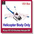 Wltoys V931 helicóptero AS350 BNF 3 cuchilla sin escobillas Motor 2.4 G 6CH soporte V966 / V977 transmisor