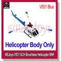 Wltoys helicóptero V931 AS350 BNF 3 suporte de Motor sem escova 2.4 G 6CH V966 / V977 transmissor