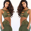 2016 New Beach Night Club Women Suit Summer Casual 2 Piece Set ( Top + Shorts ) Women Sexy Bandage Crop Top And Shorts Set