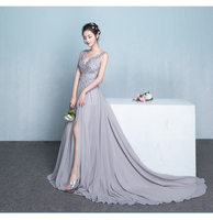 Sexy Deep V Neck Mother of the Bride Dress beaded 2018 backless Lace Appliques Long Prom Dress Evening Groom Godmother Dresses