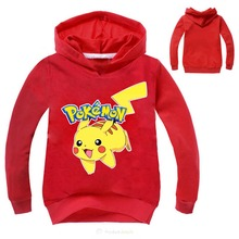 Pokemon GO Boys Hoodie For Boys 2019 Hot Sale  Comfortable Sweatshirt Tees Pikachu Game Shirt Kids Children Teen Clothing 3-16Y 2017 hot sale pokemon kids t shirt 100