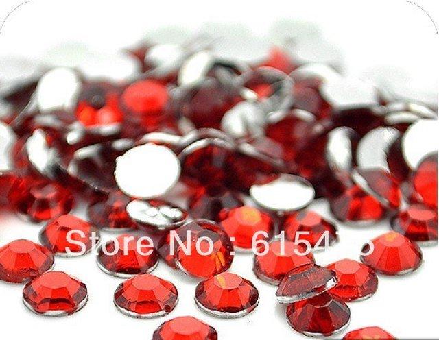 5mm LT.SIAM Color SS20 crystal Resin rhinestones flatback,Free Shipping 30,000pcs/bag