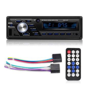 Auto radio 12 V/24 V Auto/lkw Radio Bluetooth 1din Auto Stereo Player Telefon AUX ISO Interface MP3 FM/USB/Radio Fernbedienung