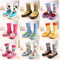2016 Newborn Animal anti slip socks with leather soles cartoon meia Non-Slip baby chaussette enfants Indoor Floor Socks Slippers