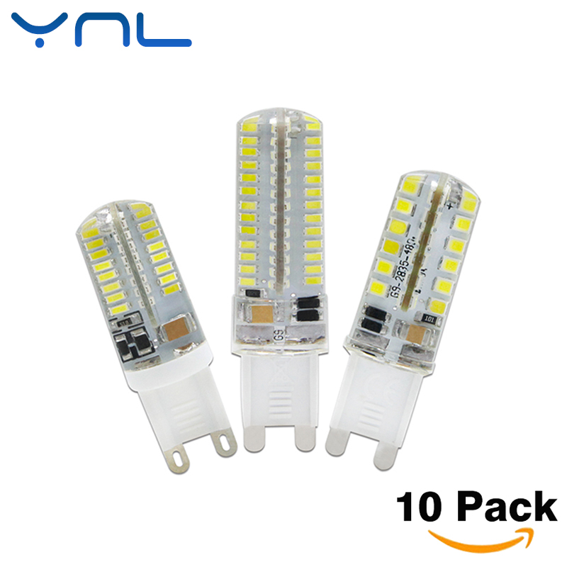 YNL 10pcs/lot LED G9 Lamp AC 220V 7W 9W 10W G9 LED Bulb SMD2835 3014 48 64 104LEDs Lampada LED 360 degrees Replace Halogen Bulb ynl lampada led g4 lamp ac 220v 3w 4w 5w dc 12v g4 led bulb smd3014 2835 24 48 64 replace 10w 30w halogen spotlight chandelier