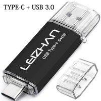 LEIZHAN 256GB USB C-Stick 128GB Typ-C Foto Stick USB 3 0 Pen drive 64GB 32GB 16GB Stick S10 S10e S9 S8 Telefon Stick