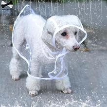 Dog-Raincoat Costumes Puppy Pet-Dog Dogs Transparent Waterproof with Hood Cloak for Pet-Supplies