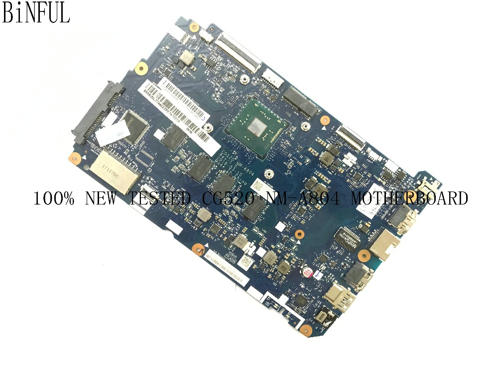 BiNFUL 100% NEW TESTED CG520 NM-A804 MAINBOARD LAPTOP MOTHERBOARD FOR LENOVO 110-15IBR CG250 NOTEBOOK PC WITH CPU kefu 5b20l77440 nm a804 for lenovo ideapad 110 15ibr laptop motherboard n3060 tested