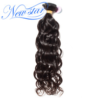 New Star Natural Wave Brazilian Virgin Human Hair Natural Color 100 Unprocessed Hair Weaving Machine Double