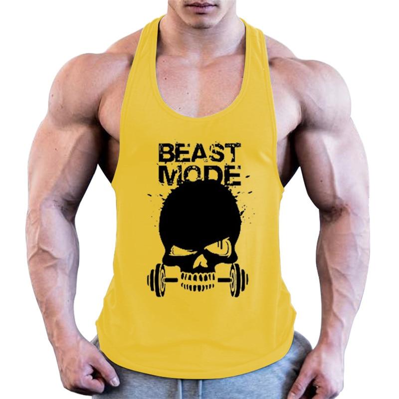 Gyms   Tank     Top   Men Workout Clothing Bodybuilding Stringer Men Muscle Vests Cotton Singlets debardeur fitness homme ropa hombre