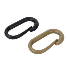 U Shape Plastic Climbing Carabiner Hanging Keychain Hook Mountaineering Buckle Snap Clip Fit Outdoor(China)