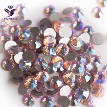 YANRUO Light Rose AB (223 AB) Flatback Rhinestones Non Hotfix Crystal Strass Cristal Pink Crystals for Dance