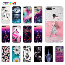 Silicone Case for Huawei Y7 2018 Case TPU Back Cover for Huawei Honor 7C 5.99 Phone Covers Y7 Prime 2018 Case Y7 Pro 2018