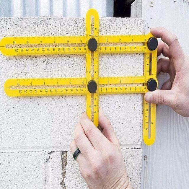 מקצועי תבנית כלי זווית מדידת מד זווית רב זווית שליט הבונים בעלי מלאכה מהנדסים פריסה