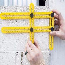 Herramienta de plantilla profesional, transportador de medición de ángulo, regla multiangular, constructores, artesanos, diseño de ingenieros