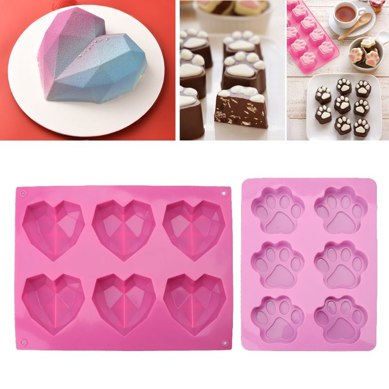 3D Diamond Love Heart Shape Silicone Molds Jewelry Making Epoxy Resin Molds Jewelry Tools