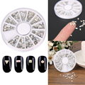 1 Wheel 3D Nail Art Rhinestones Glitters Acrylic Tips DIY Decoration Manicure