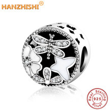 ebb3ae2be Fits Pandora Charms Bracelet 2016 Winter Collection DIY Openwork Flower  Charms with White Enamel CZ 925