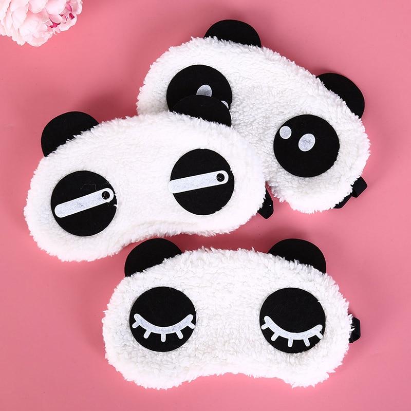 Cute Face White Panda Eye Mask Eyeshade Shading Sleep Mask Eye Cover Health Care 3 Styles Sleep Cotton Goggles Eye Mask