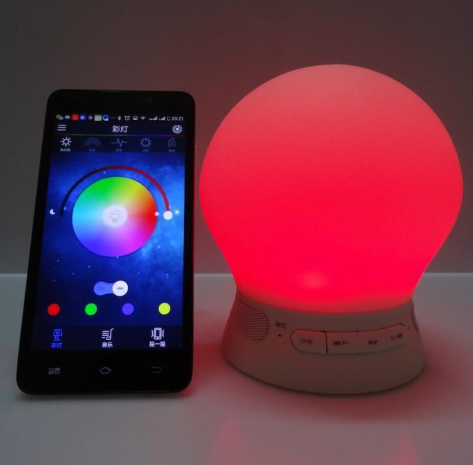 Işıklar ve Aydınlatma'ten LED Gece Lambaları'de Yumuşak silikon LED lamba bluetooth hoparlör dokunmatik kontrollü akıllı renkli duygu romantik işık ücretsiz kargo