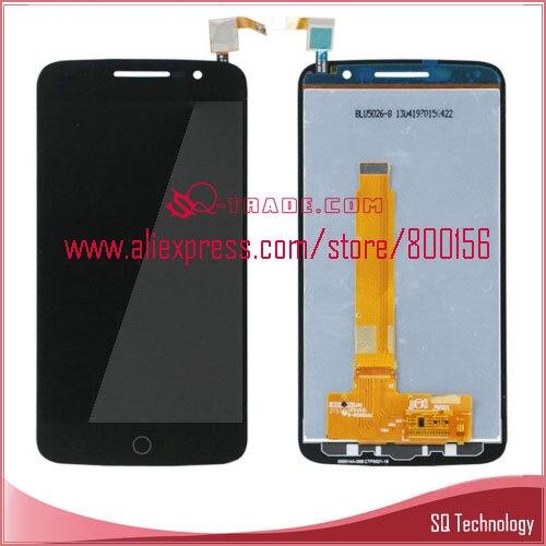 imágenes para Para Alcatel One Touch Pop 2 Premium 7044 7044Y 7044 K pantalla lcd con pantalla táctil digitalizador Asamblea Negro envío gratis