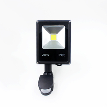 50pcs 10W 20W 30W 50W AC85-265V LED spotlight led flood light led lamp black shell PIR Motion sensor Induction Sense lamp