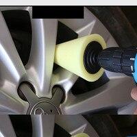 Espuma de polimento de polimento esponja almofada polidor carro pneus roda roda hub ferramenta máquina de polimento cone forma whee 4 cores opcionais Esponja p/ encerar Automóveis e motos -