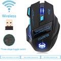 Gaming Mouse Óptico 2400 DPI Gamer Ratón inalámbrico 2.4G Ratón Del Ordenador ECHTPower Nighthawk F14 LED 7D Gaming Ratones