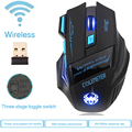 Wireless Mouse Gamer Gaming Mouse Optical 2400DPI 2.4G Computer Mouse ECHTPower Nighthawk F14 LED 7D Gaming Mice