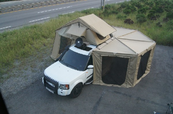 DANCHEL 4 Side Sector side tent awning 2.5m roof tent ...