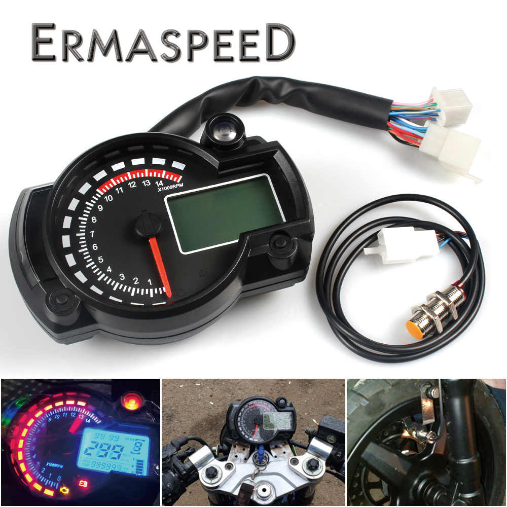 15000rpm Modern Motorcycle Digital Light LCD Digital Gauge