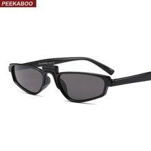 Peekaboo branco vermelho pequeno óculos de sol das mulheres do vintage preto  2018 de alta moda óculos de sol para mulheres uv400. 15b60ea75b