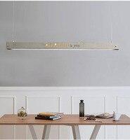 Led t5 tuble 콘크리트 직사각형 긴 교수형 램프 l130/l90cm 거실 침실 커피 숍 다 이닝 데스크
