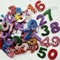 90 ШТ. (1 пакета(ов))/МНОГО, 0-9 числа искристая пена наклейки, Детский Сад украшения, ранние развивающие игрушки, Математика игрушки, Научите свой собственный, 3cm. OEM