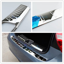 Accessories For Mercedes Benz A Class W176 2013-2018 A180 A260 A200 Rear Bumper Trunk Lid Cover Stainless Steel Trim Car Styling(China)