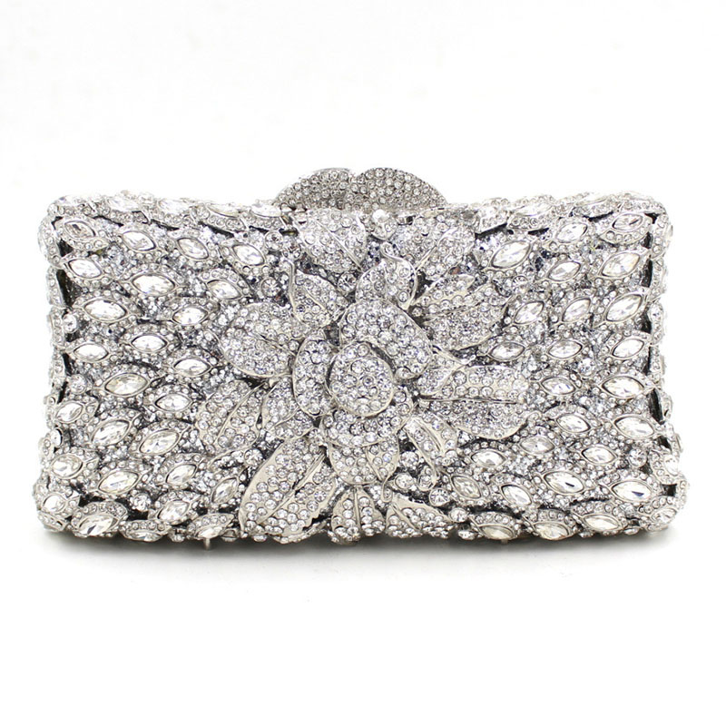 Fashion Diamond Evening Clutch Bag Rhineston party purse Over the Shoulder Female Crystal Handbag New product the new 2016 limited rivet set auger handbag contracted with diamond crystal diamond bag