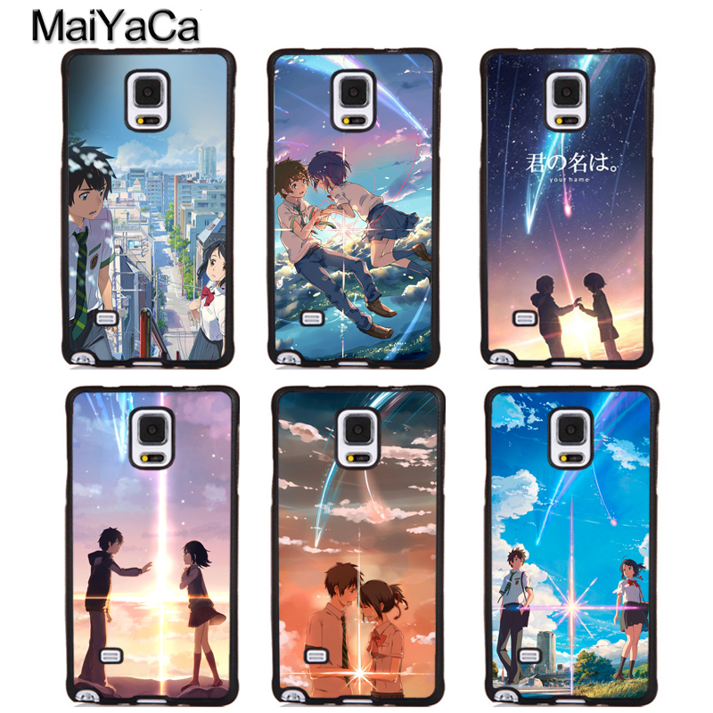 MaiYaCa Anime Your Name Kimi no Na wa Full Protective Phone Cases For Samsung Galaxy S6 S7 edge Plus S8 S9 plus Note 4 5 8 Cover