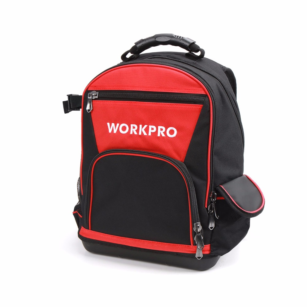 WORKPRO 17 inches Tool Bag Electrician Backpack Handbag Tool Kits Bag Multifunction Bags workpro 16 600d foldable tool bag shoulder bag handbag tool organizer storage bag