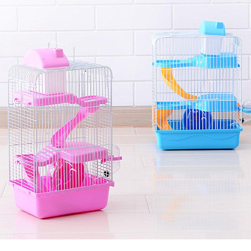 Adeeing 3-storey Pet Hamster Cage Luxury House Portable Mice Home Habitat Decoration