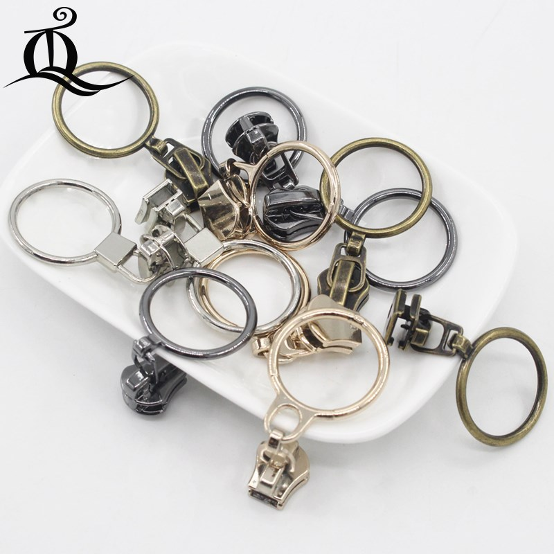 United 10-50pcs Special Gold 5# Metal And Nylon Head Teeth zipper Puller Slider Metal Plating Accessory Bags Garments Fabric Luggage & Bags