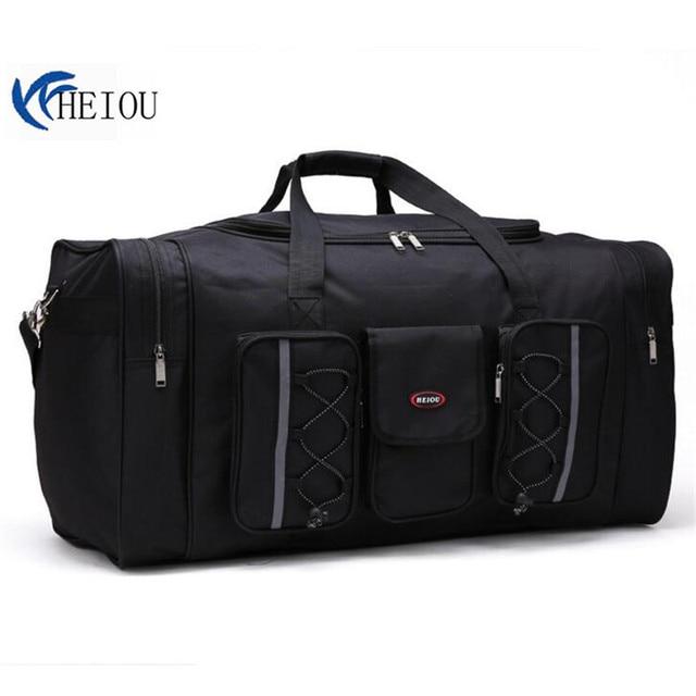 Heiou Women Travel Bags Large Capacity Luggage Duffle Shoulder Canvas Handbag Folding Bag