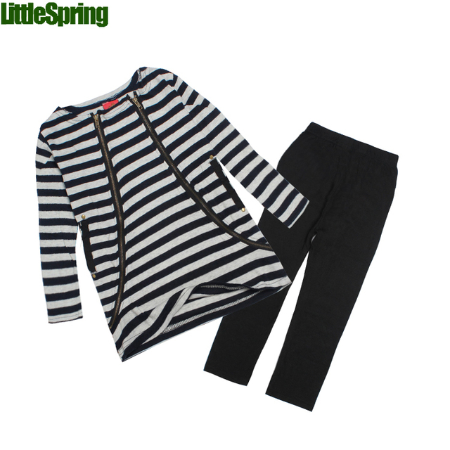Children's sets Retail Girls Clothing Sets Spring Autumn Girls Suits girls fashion clothes stripe sport suit