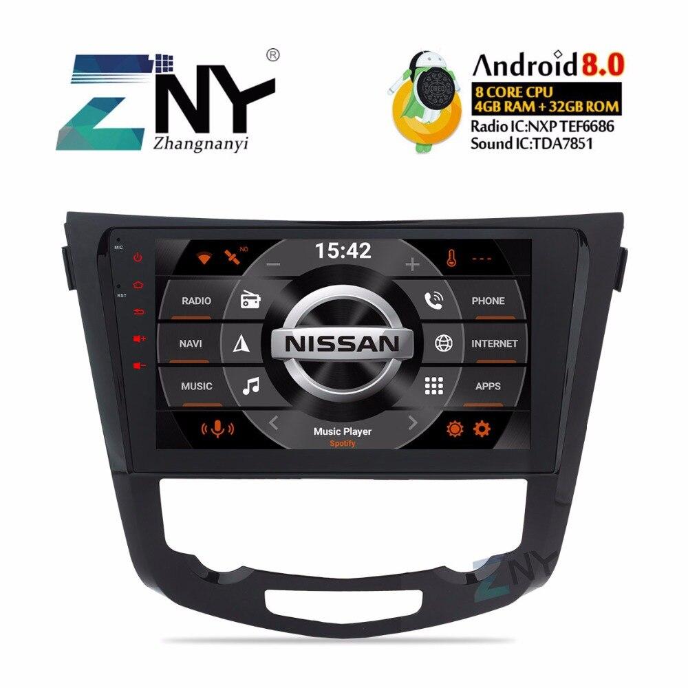 10.1 Android 8.0 Voiture Stéréo 2 Din Voiture Radio Pour Nissan Qashqai X-trail 2014 2015 2016 2017 multimédia GPS Navigation Sans DVD