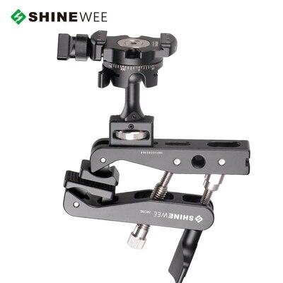 """Многофункциональный пружинный зажим, держатель, крепление для вспышки, шаровая Головка, стандартный винт 1/"""" для SLR цифровых зеркальных видеокамер - Цвет: Белый"""