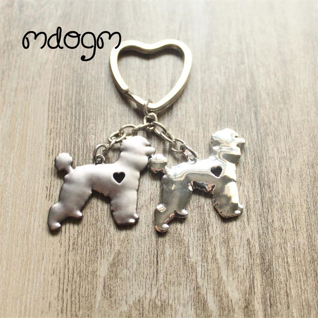 2018 Cute Poodle Dog Animal Purse Handbag Charm Handmade Pendant Keychain For Bag Car Women Men Key Ring Kids Jewelry K011