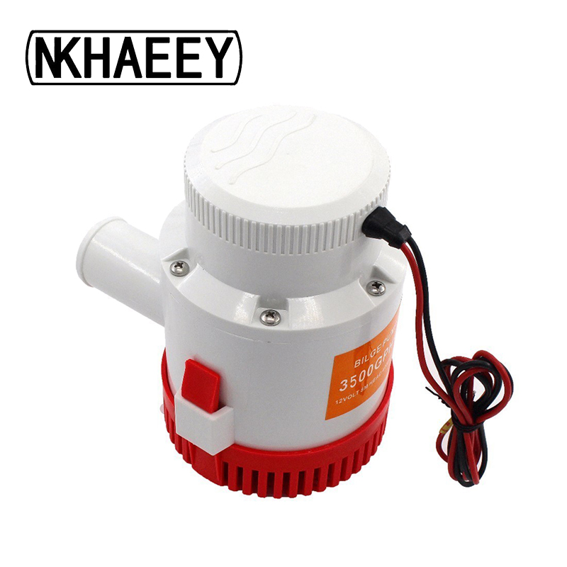 3500GPH DC 12/24V Bilge pump large flow drainage pump farm irrigation garden spray boat drainage submersible electric water pump