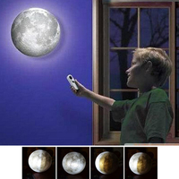 LED Moon Lamp 3D Print Romantic Gift Dimmable Stereo Spherical Atmosphere Lights Wall mounted