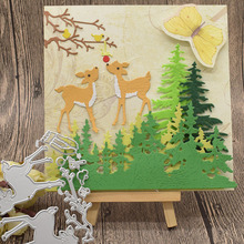 Tree Forest Deer Metal Cutting Dies For Scrapbooking Paper Card Album Decoration Embossing Template Craft