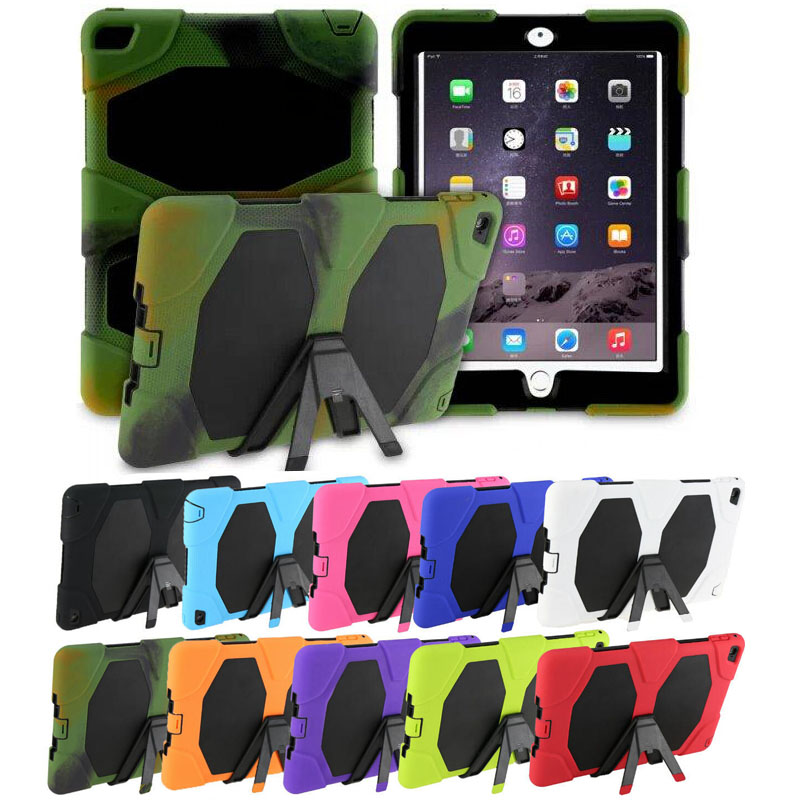 все цены на 2016 New life Tough Military Hard Rugged Heavy Duty ShockProof Dirt Proof Armor Silicone Rubber Case Cover For Apple iPad 2 3 4 онлайн